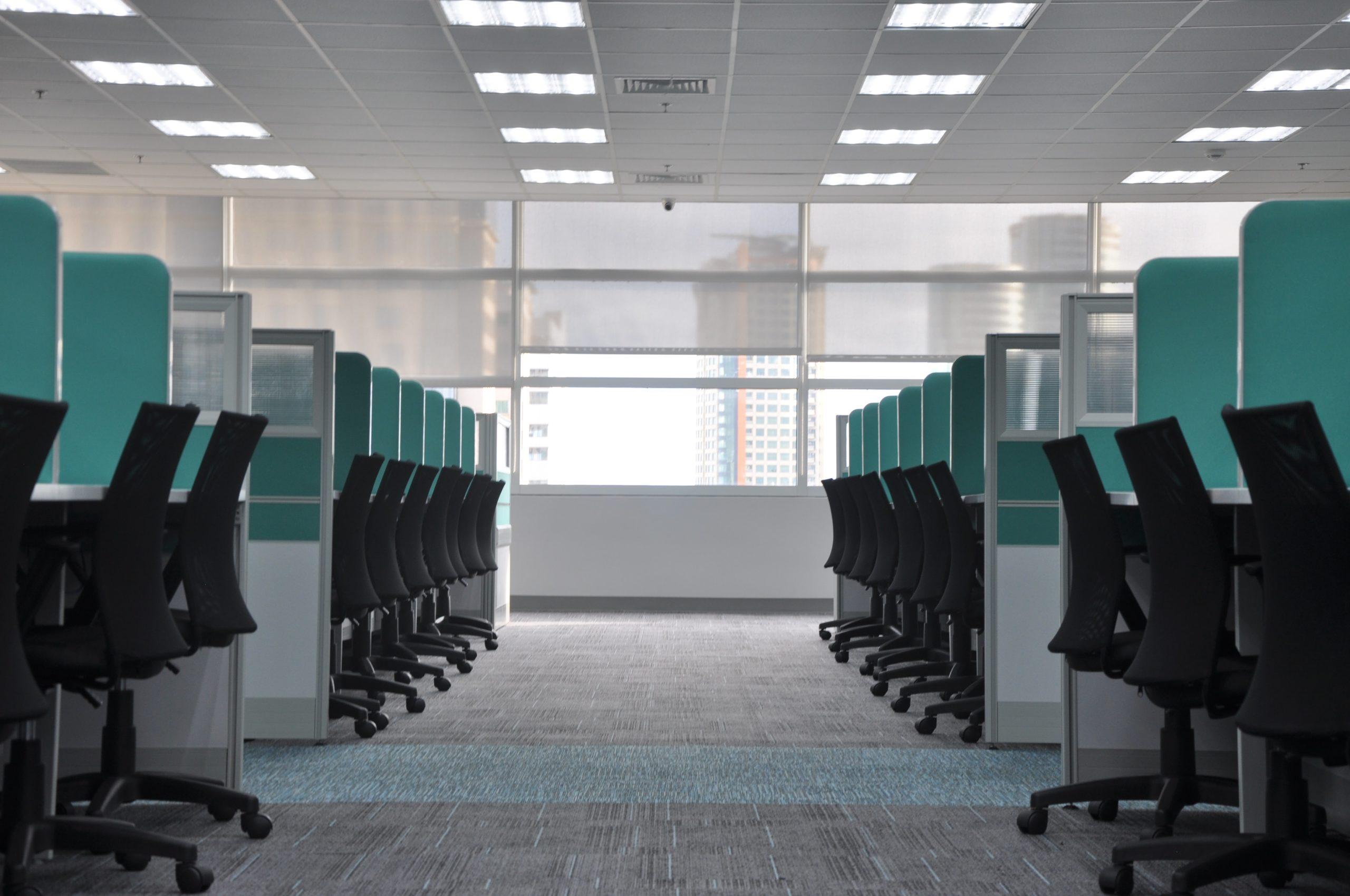 leeg kantoor werkplekken workplacemanagement
